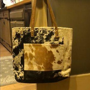 Myra bag cow hide purse